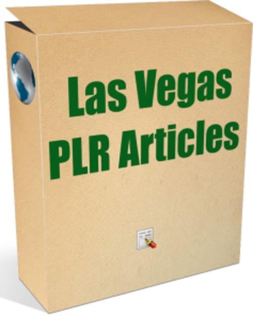 Pay for 25 Las Vegas PLR Articles - Articles with PLR