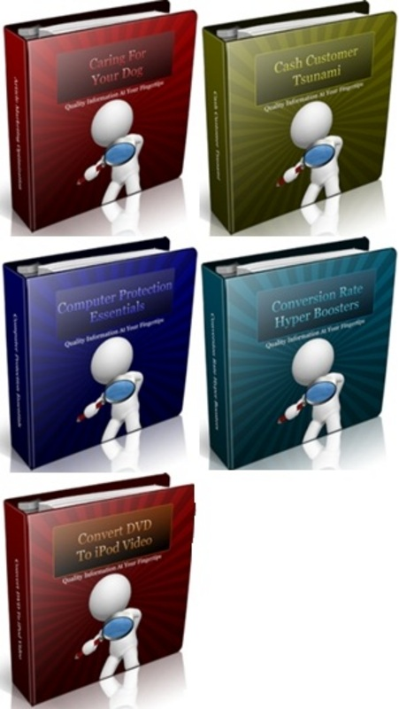 Pay for PLR Ebook Collection #4 - 5 eBooks with PLR