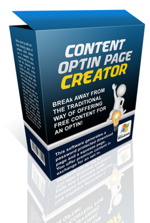 Pay for Content Opt-in Page Creator - Software & Video