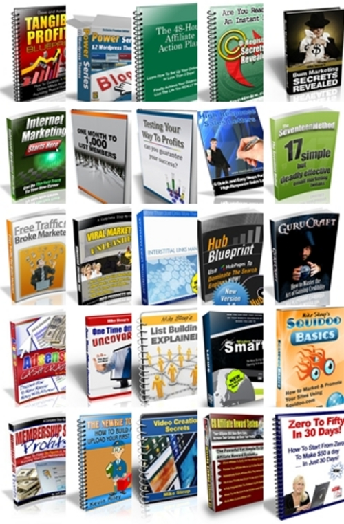 Pay for Mike Steup eBook Bundle - 25 eBooks with MRR