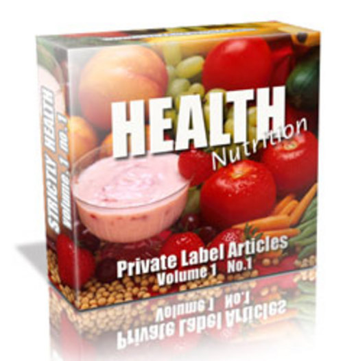Pay for 133 Health Nutrition PLR Articles - Articles with PLR