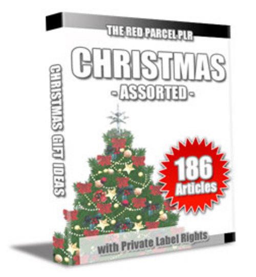 Pay for 186 Christmas Assorted PLR Articles - Articles with PLR