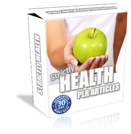 Pay for Strictly Health PLR Content Pack - Articles with PLR
