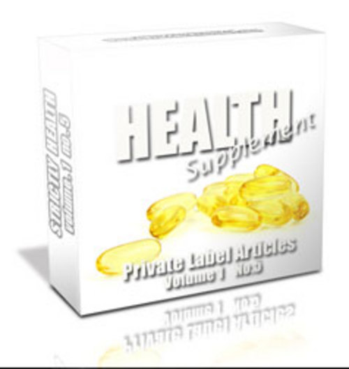 Pay for 162 Health Supplement PLR Articles - Articles with PLR