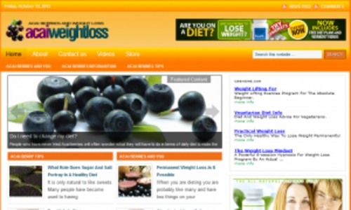 Pay for Acai Weight Loss Blog - WordPress Blog with PLR