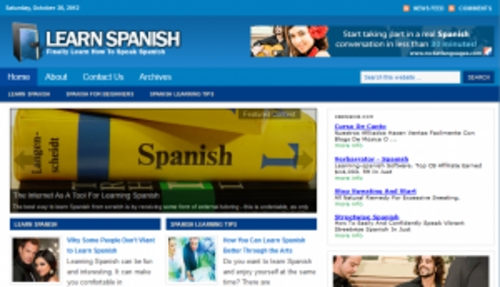 Pay for Learn Spanish Blog - WordPress Blog with PLR