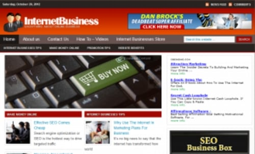 Pay for Internet Business Blog - WordPress Blog with PLR