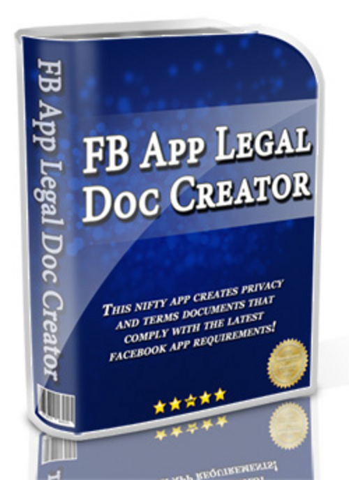 Pay for FB App Legal Doc Creator - Software with MRR