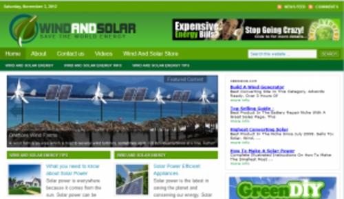Pay for Solar & Wind Power Blog - WordPress Blog with PLR
