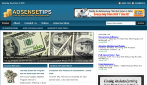 Pay for Adsense Tips Blog - WordPress Blog with PLR