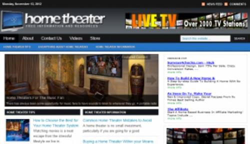 Pay for Home Theater Blog - WordPress Blog with PLR