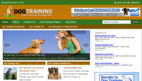 Pay for Dog Training Blog - WordPress Blog with PLR