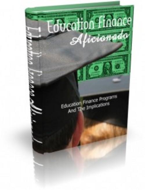 Pay for Education Finance Aficionado - eBook with MRR