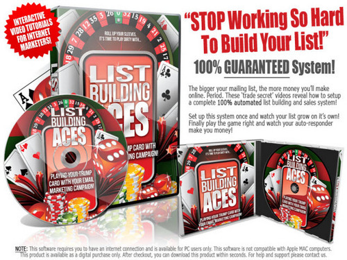 Pay for List Building Aces - Instruction Videos with MRR