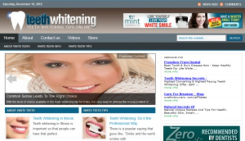 Pay for Teeth Whitening Blog - WordPress Blog with PLR