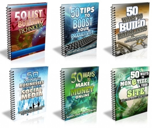 Pay for 50 Ways and Tips Package - 6 eBooks with MRR
