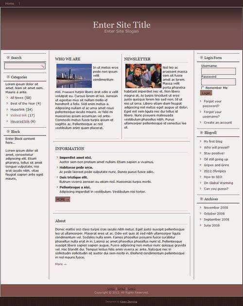Pay for Responsive Magazine Style Template #2 - Template with PLR