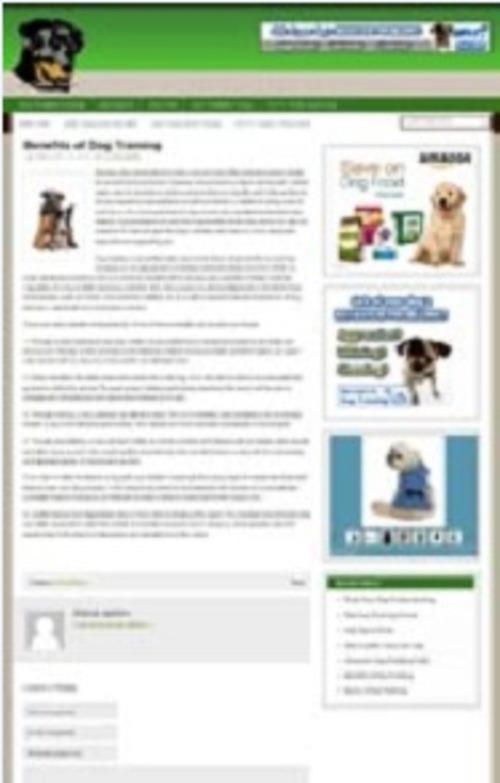 Pay for Dog Training Blog - WP Blog with PLR