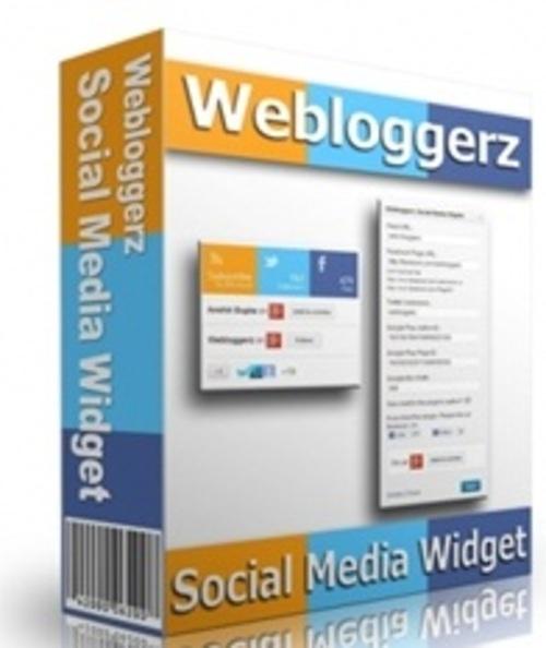 Pay for Webloggerz Social Media Widget - WP Plugin with RR