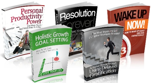 Pay for Productivity Package - 5 eBooks with MRR