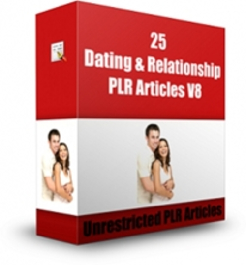 Pay for Dating & Relationship PLR Articles V8 - Articles with PLR