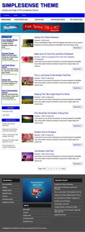 Pay for SimpleSense WP Theme - with PLR License
