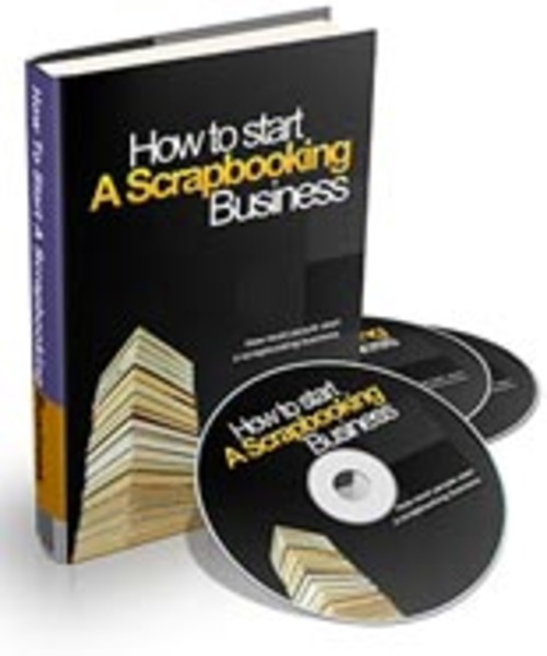 Pay for How To Start A Scrapbooking Business - Audio eBook with PLR