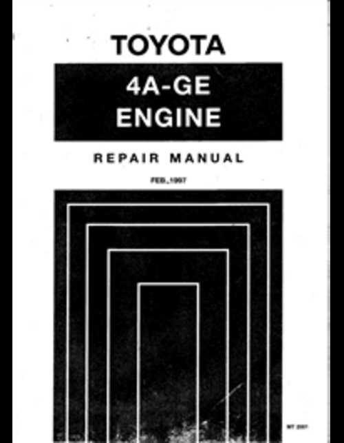 Pay for Toyota 4AGE 20v Blacktop AE111 Service/Repair manual 1997