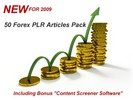 Thumbnail 50 Forex PLR MRR Articles