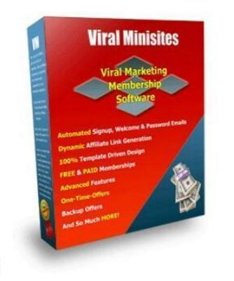 Pay for Membership Software - Viral Minisites