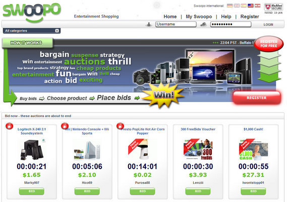 Pay for Swoopo Auction  php software