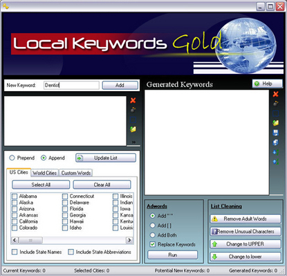 Pay for Local Keywords Gold