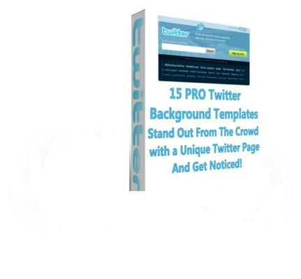Pay for 15 Professional Twitter Background Templates With Plr