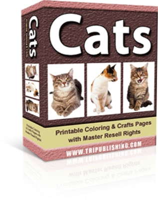 Pay for Cats: Printable Coloring Pages Ebook (MRR)