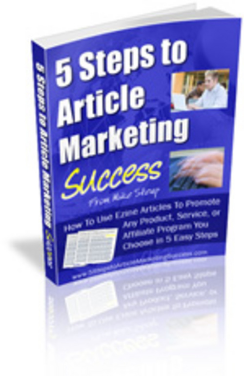 Pay for 5 steps to Article Marketing Success.