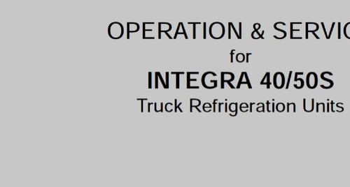 pay for carrier transicold service manual for integra 40 50s
