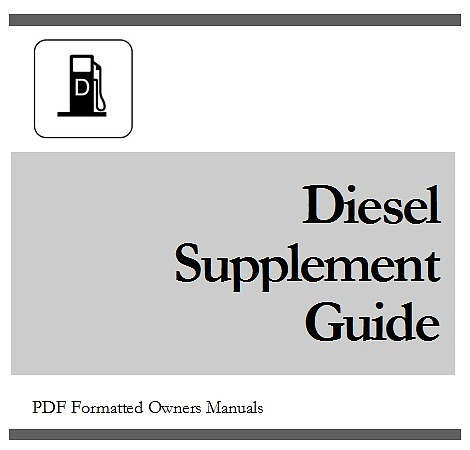 Pay for 2011 CHEVY / CHEVROLET Silverado 3500 Duramax DIESEL Supplement Owners Manual