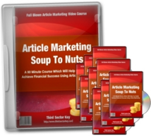 Pay for Article Marketing Soup To Nuts -Video Series