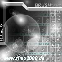 Pay for Tymoes 36 Flare FX Photshop Brush - Donwload Addons, Shapes Brushes for adobe photoshop 6.0, 7.0, cs and cs2 not for free
