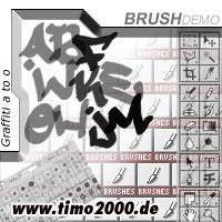 Pay for Tymoes Graffiti A-O Photoshop Brush - Donwload Addons, Shapes Brushes for adobe photoshop 6.0, 7.0, cs and cs2 not for free