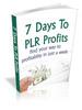 Thumbnail 7 Days To PLR Profits