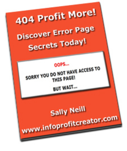 Pay for Profit More From Error Pages