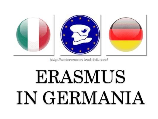 Pay for Erasmus in Germania. Mp3 + pdf