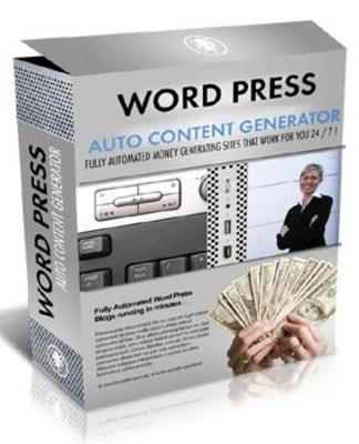 Pay for Word Press Auto Content Generator