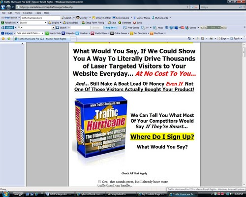 Pay for Traffic Hurricane Pro