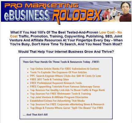 Pay for Ebusiness Rolodex