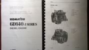 Thumbnail KOMATSU 6D140-1 series diesel engine repair workshop manual