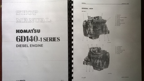 komatsu 6d140 1 series diesel engine repair workshop. Black Bedroom Furniture Sets. Home Design Ideas