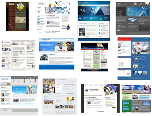Pay for 12 High Quality - Construction Website Templates Flash HTML