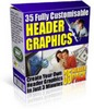 Thumbnail *NEW* 35 Header Graphics Package With Master Resale 2011